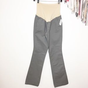 NWT maternity twill pants gray 6 old navy
